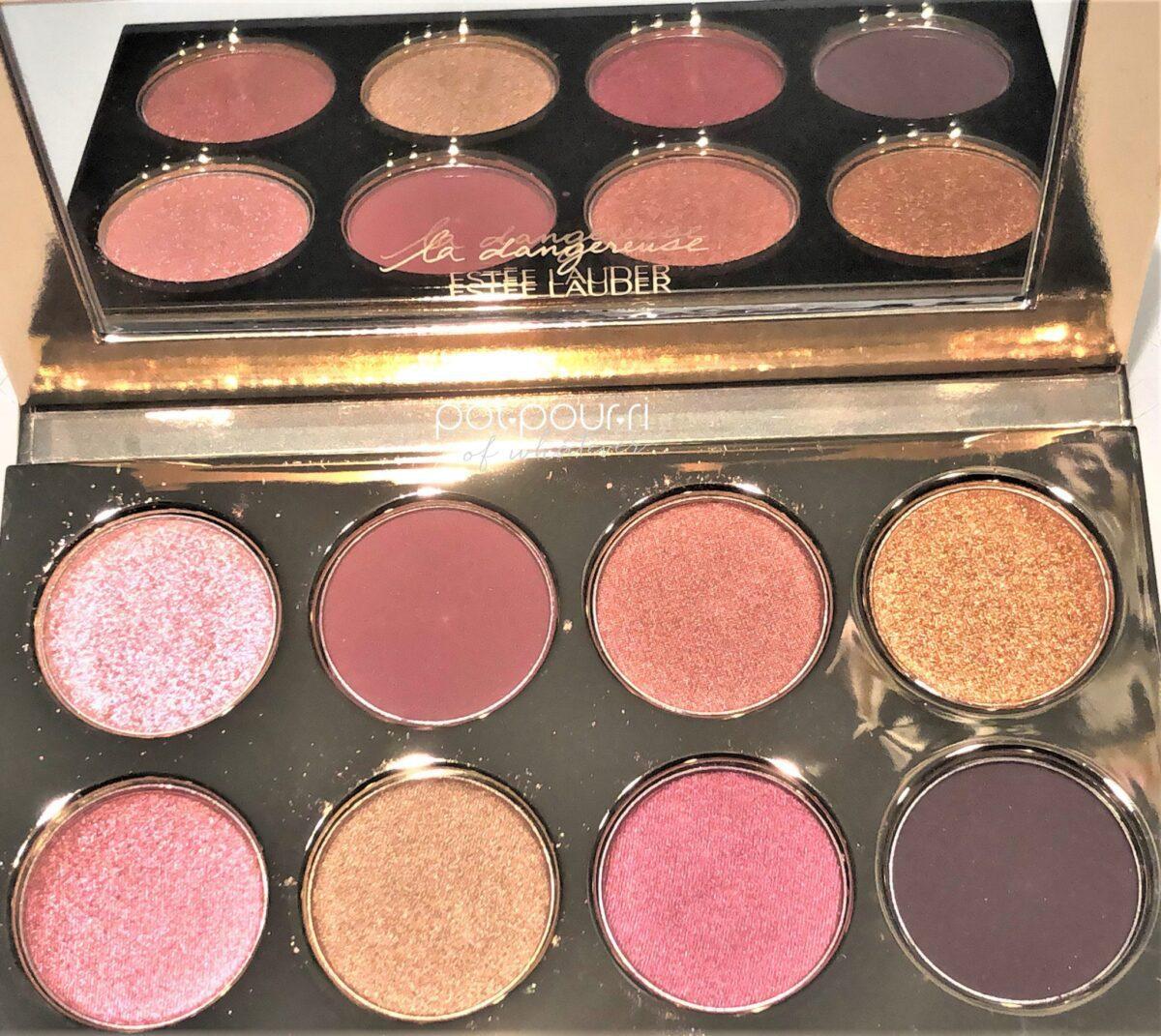 Estee Lauder X Violette Dangereuse Collection Amour Amour Eye Shadow Palette eight shadows, large mirror
