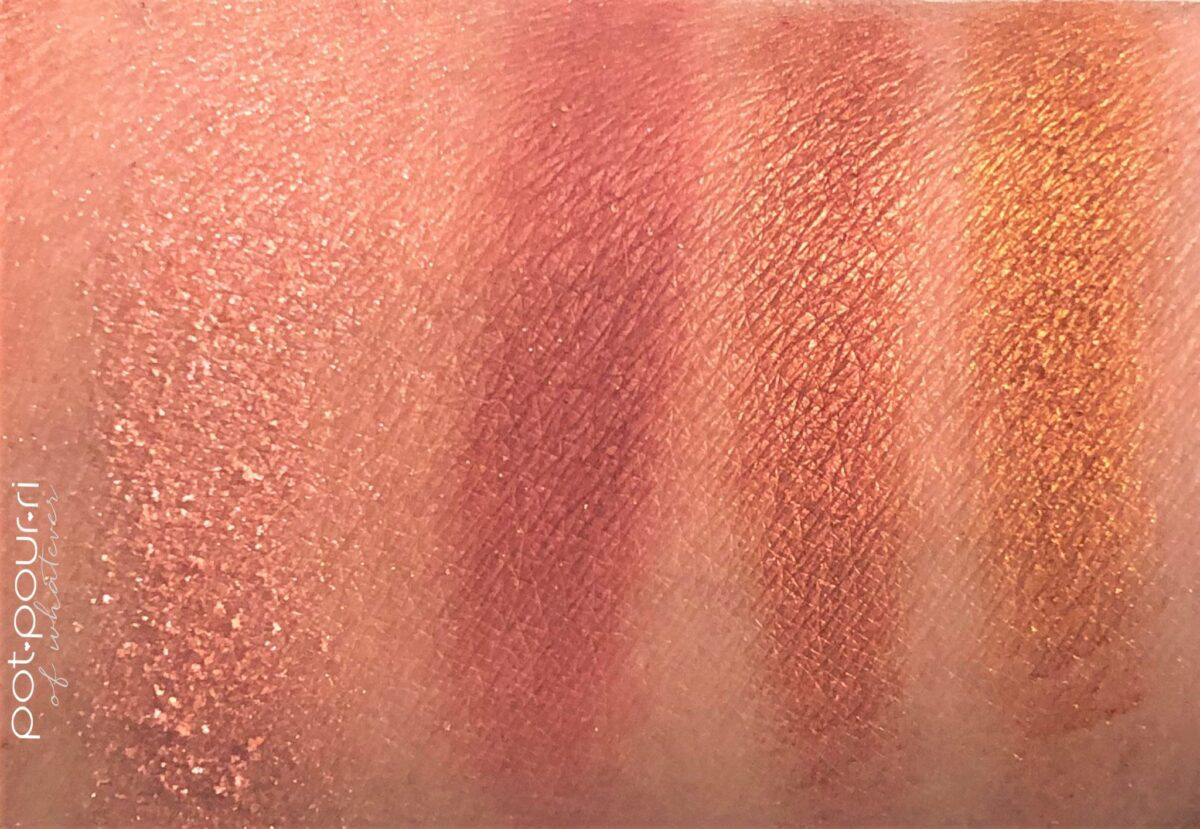 Amour Amour Top Row Swatches