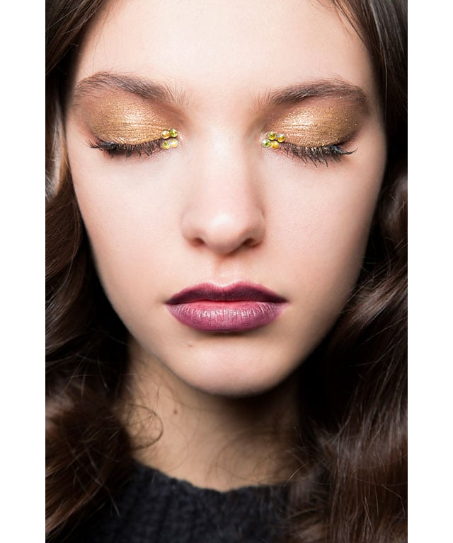 glitter embellished eyes