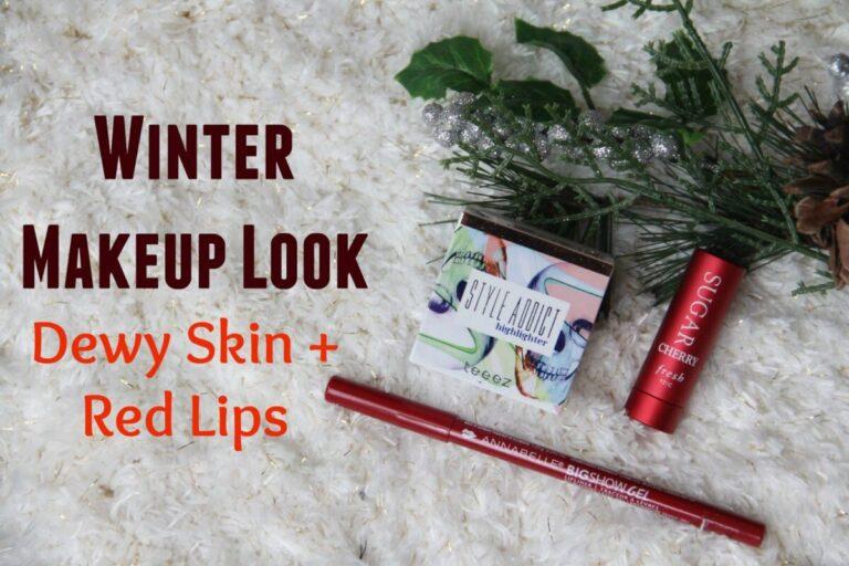 glowing-skin-Winter Makeup Look