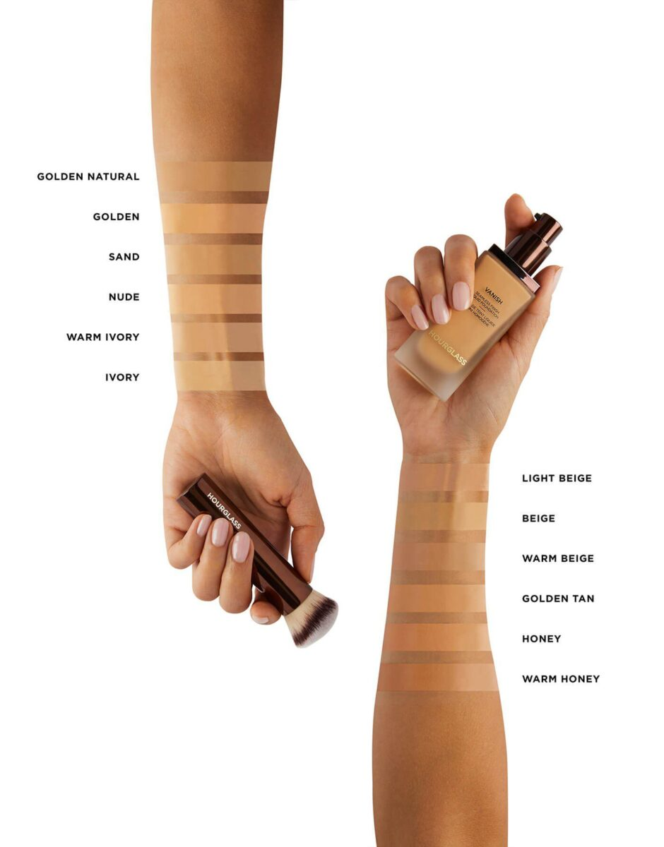 COLOR CHART SWATCHES COURTESY OF HOURGLASS.COM