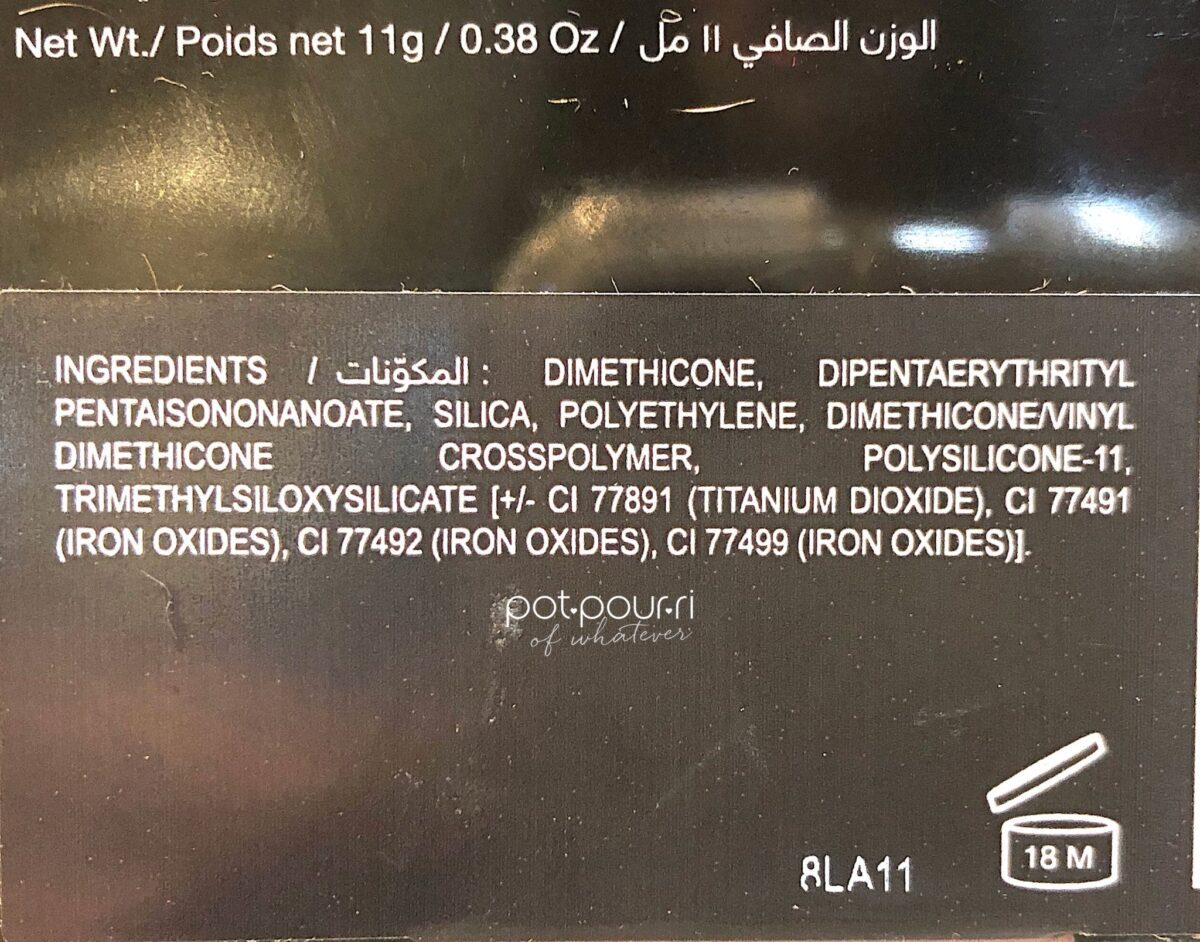 HUDA BEAUTY TANTOUR INGREDIENTS