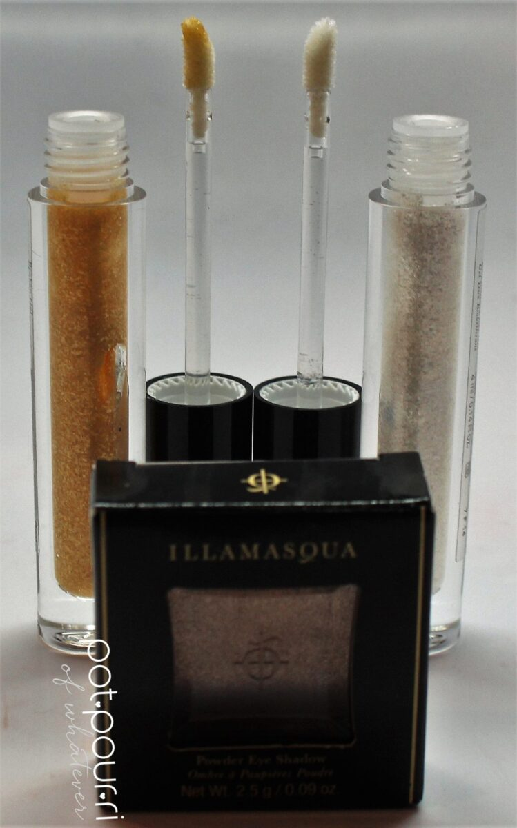 Gel Eye Embellishments and Earthy Metallic Eyeshadow Powder in Hoard