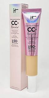 IT COSMETICS CC CREAM ILLUMINATION SPF 50+ OUTER BOX AND TUBE