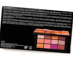 THE BACK OF THE NARS AFTERGLOW EYESHADOW PALETTE'S OUTER BOX