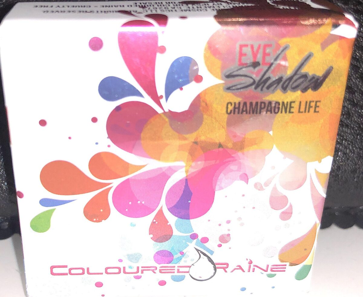 PACKAGING FOR COLOURED RAINE EYESHADOW IN CHAMPAGNE LIFE