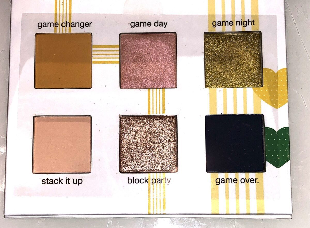 THE SIX GAME ON EYESHADOWS COME IN THREE FINISHES