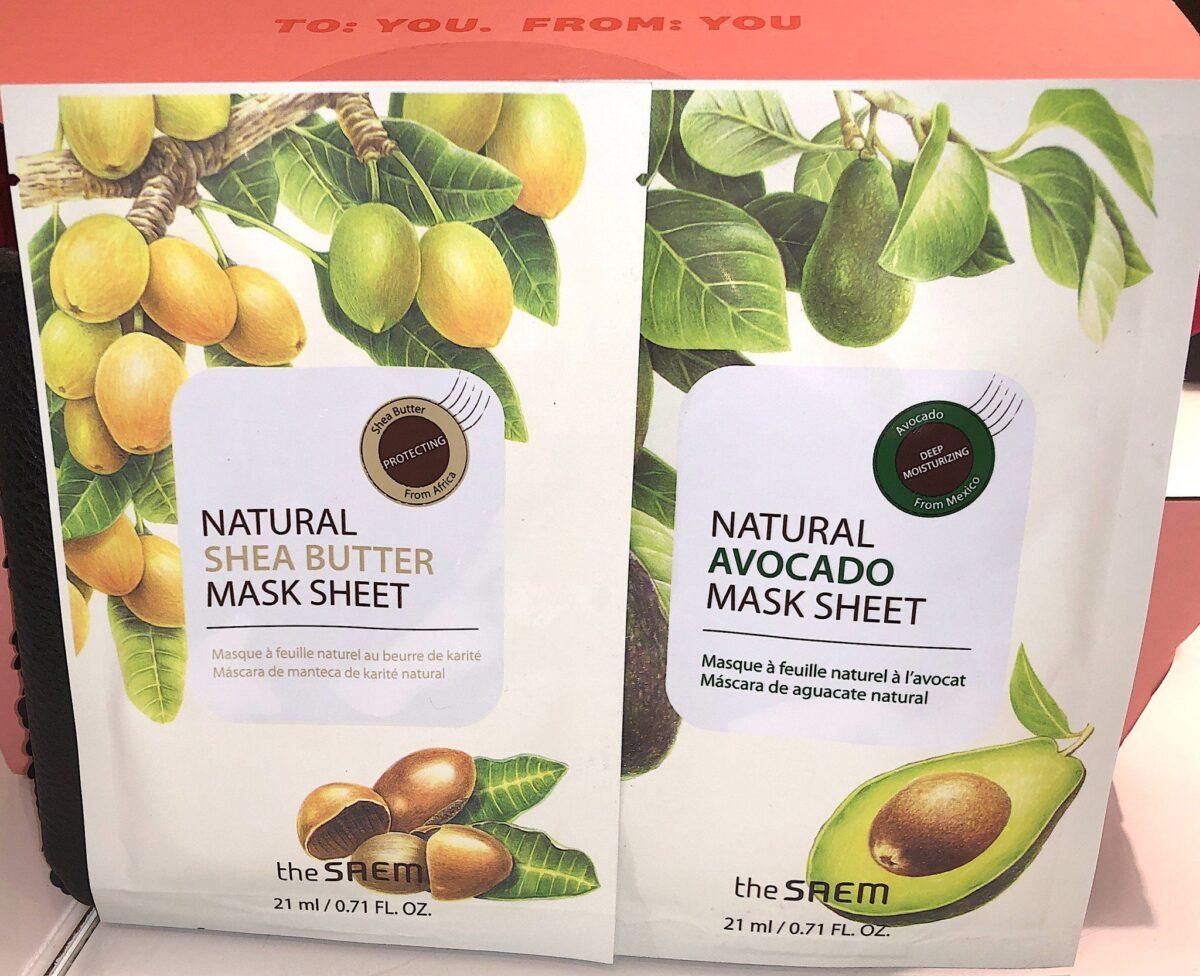 TWO SAEM NATURAL AVOCADO AND SHEA BUTTER MASK SHEET SET