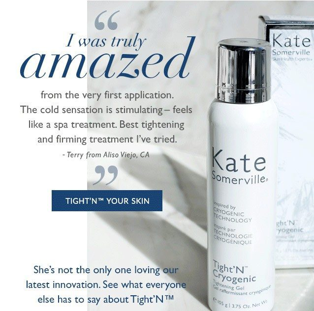 RESULTS OF KATE SOMERVILLE TIGHTENING GEL CRYOGENIC