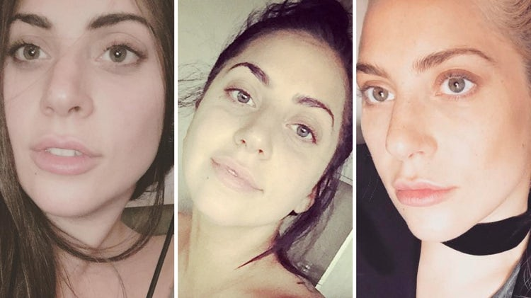 Lady Gaga Selfie without makeup