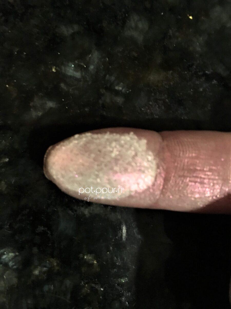 finger swatch of diamond dust