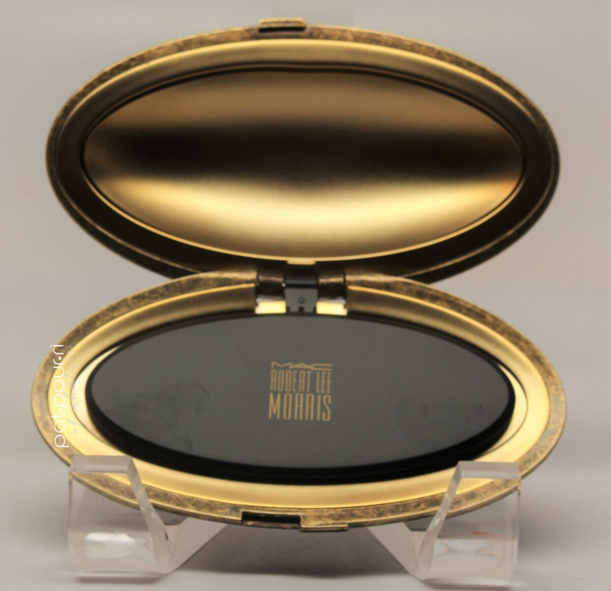 face powder compact opened