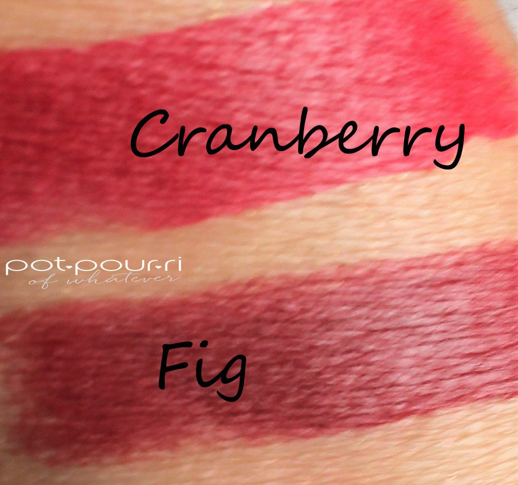 swatches pomegranate and fig