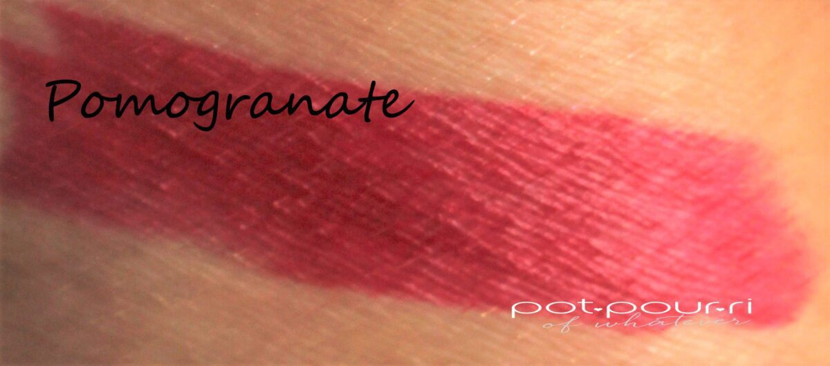 pomegranate swatch