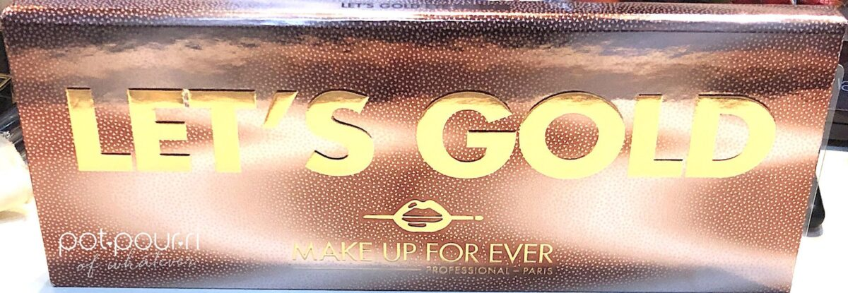 MAKEUP FOREVER LET'S GOLD EYESHADOW COMPACT