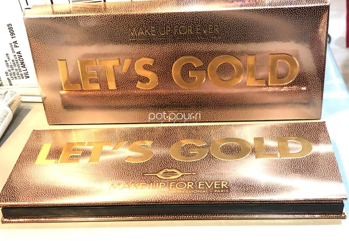 MAKEUP FOREVER LET'S GOLD EYESHADOW PALETTE PACKAGING