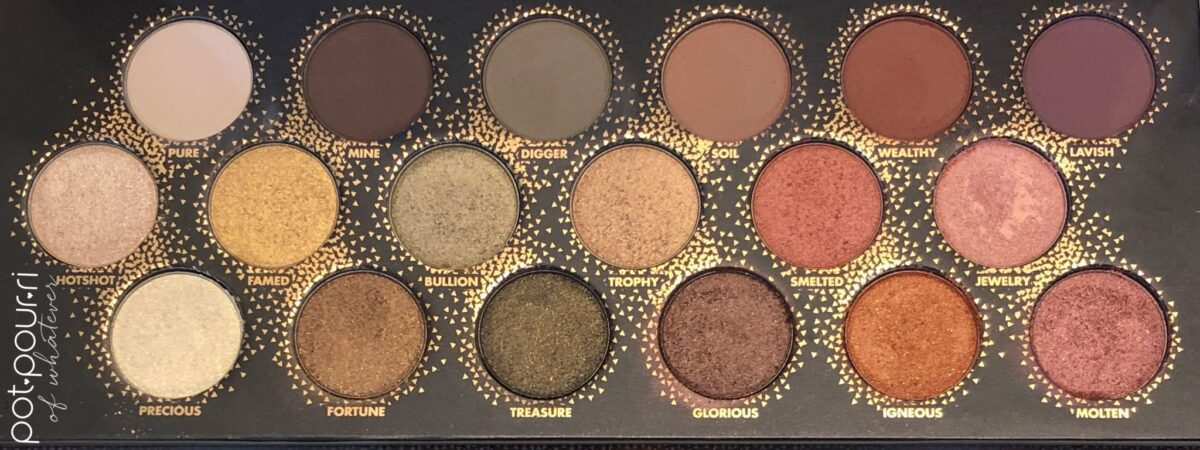 MAKEUP FOREVER LET'S GOLD EYESHADOW PALETTE SHADES