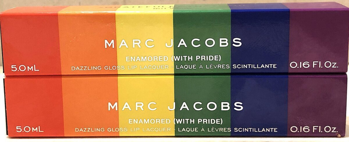 MARC JACOBS ENAMORED WITH PRIDE LIPGLOSS OUTER SLEEVE PACKAGING