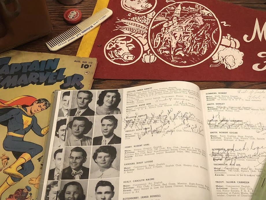 MEMPHIS YEARBOOK SIGNED BY ELVIS