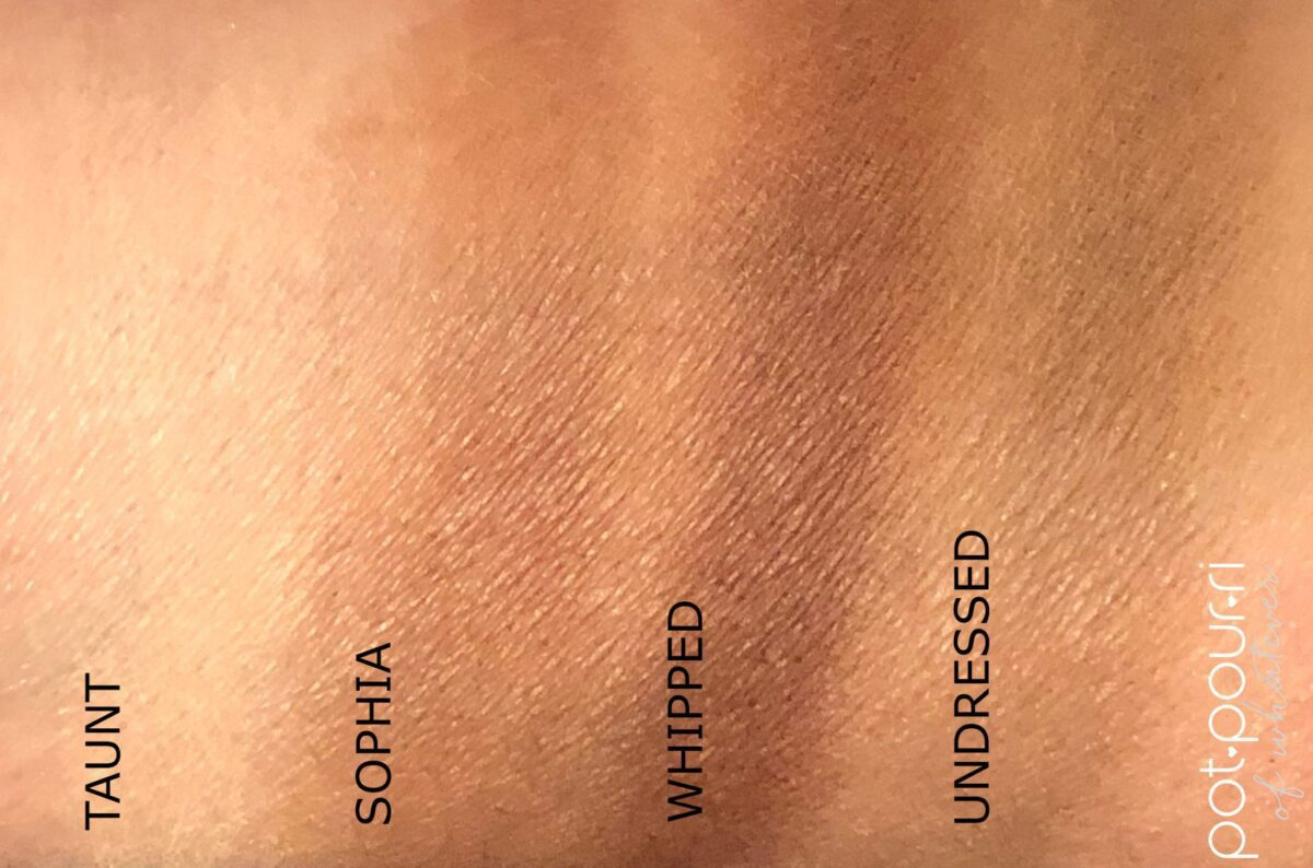 ROW ONE SWATCHES NARS SKIN DEEP EYESHADOW PALETTE