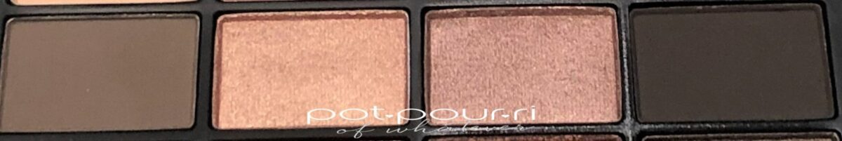 NARS SKIN DEEP EYESHADOW PALETTE ROW 2 LEFT TO RIGHT- BALI, ICON, BASIC INSTINCT, COCONUT GROVE