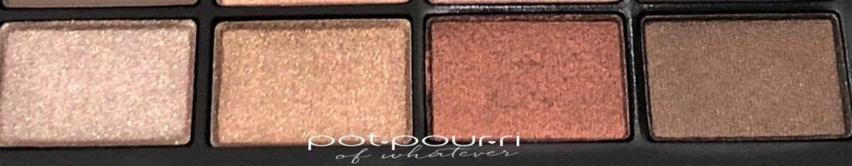 NARS SKIN DEEP EYESHADOW PALETTE ROW 3 LEFT TO RIGHT- CENTERFOLD, CALENDAR GIRL, FASTER PUSSYCAT, UNBUTTONED