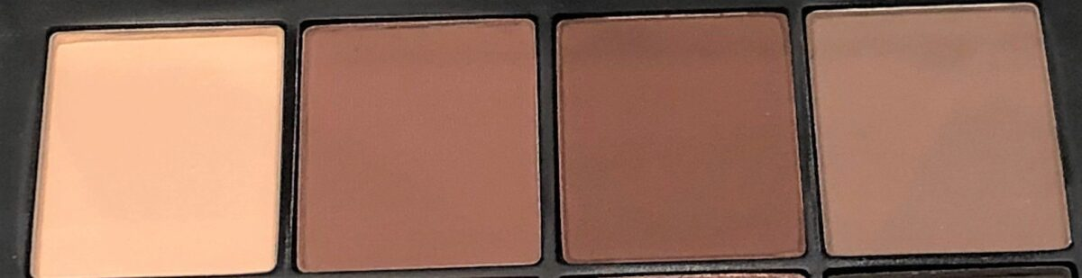 NARS SKIN DEEP EYESHADOW PALETTE LEFT TO RIGHT- TAUNT, SOPHIA, WHIPPED, UNDRESSED