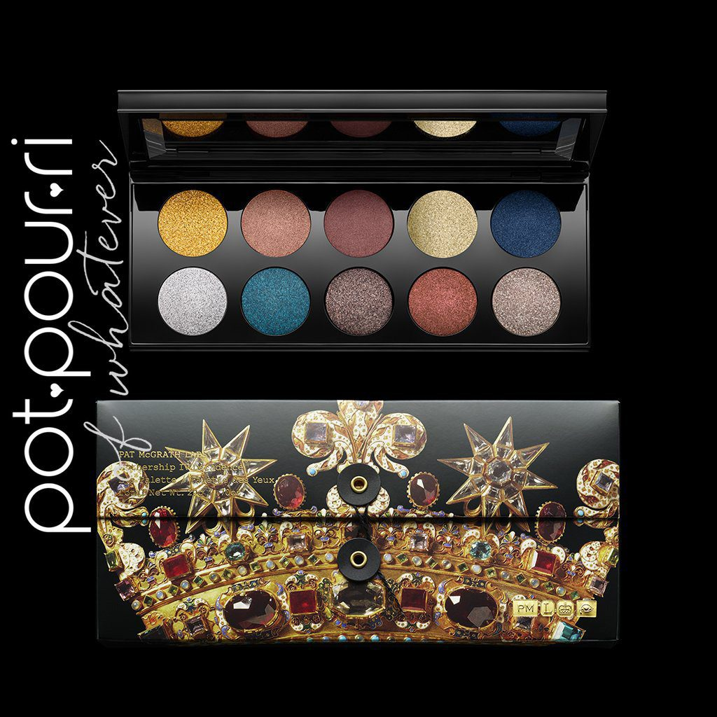 Pat McGrath Mothership IV Decadence palette comes in crown box