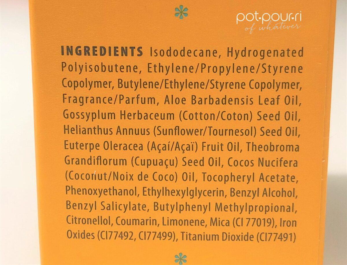 Sol Janeiro Bronze Glow Oil ingredients