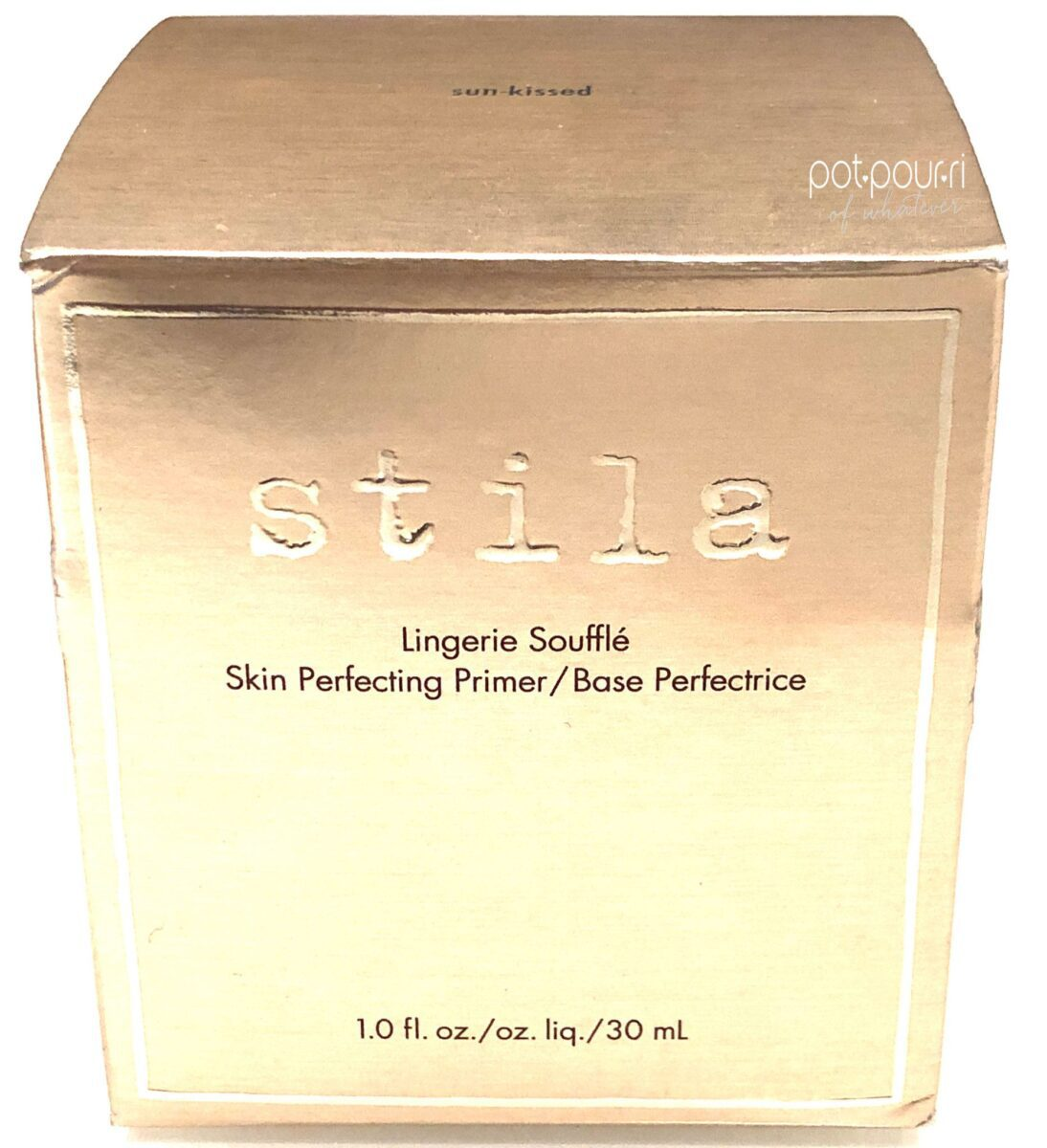 packaging outer box Stila skin perfecter Primer