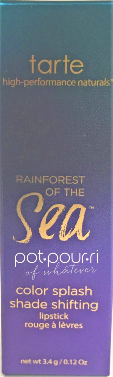 TARTE RAINFOREST OF THE SEA-COLORSPLASH-SHADE-SHIFTING-LIPSTICK-PACKAGING