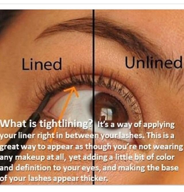 How To Tightline Eyes Make Your Eyelashes Appear Thicker