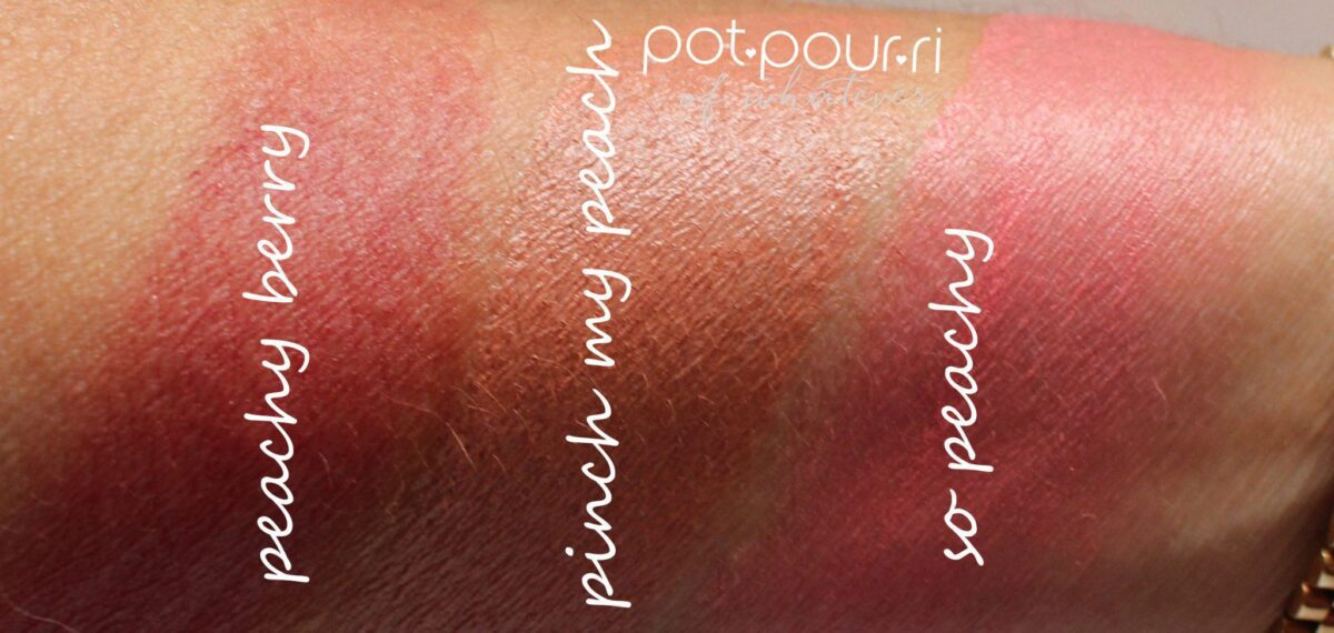 swatches of the shades