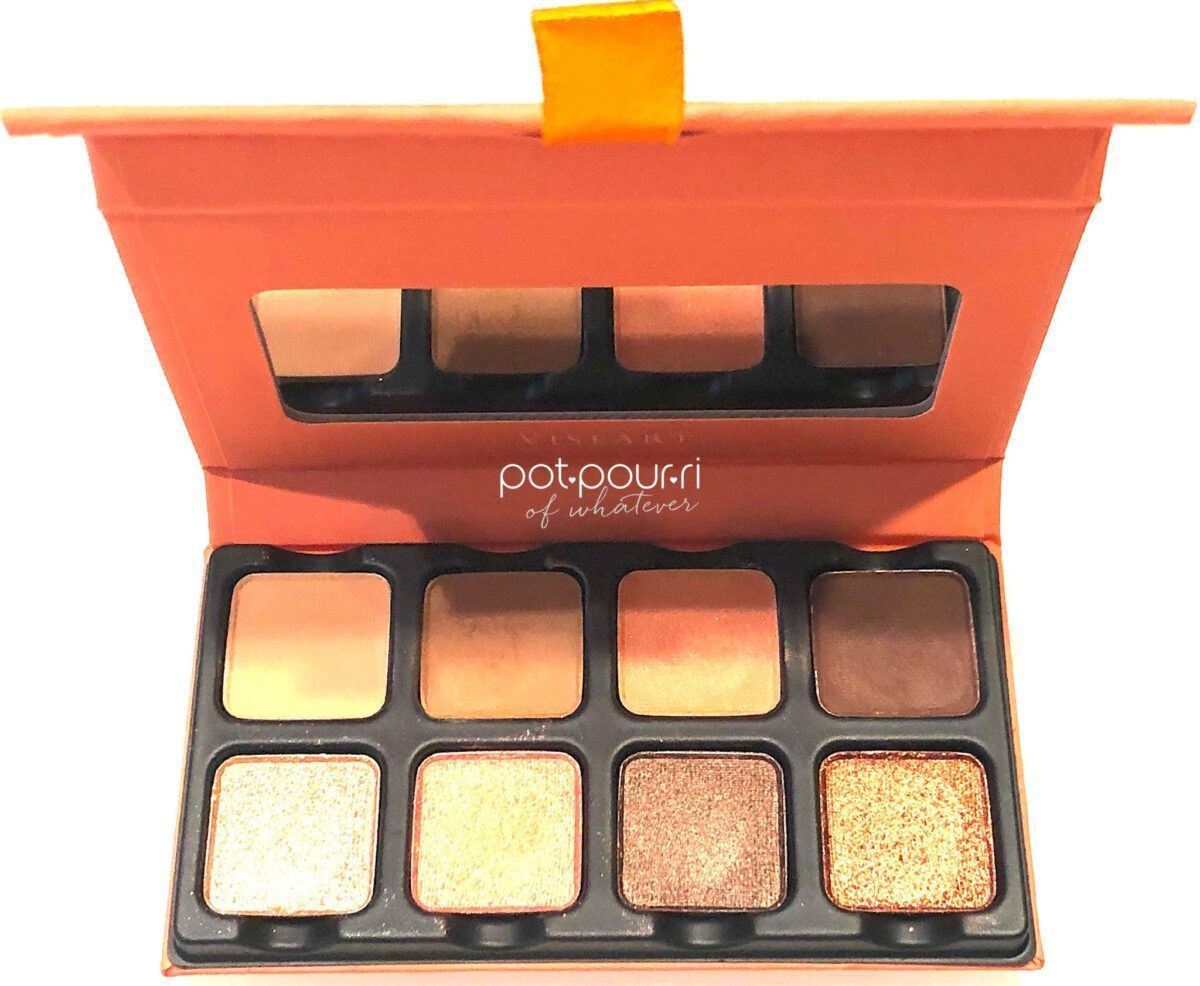 THE APRICOTINE PALETTE TOP ROW FROM LEFT TO RIGHT SHADES