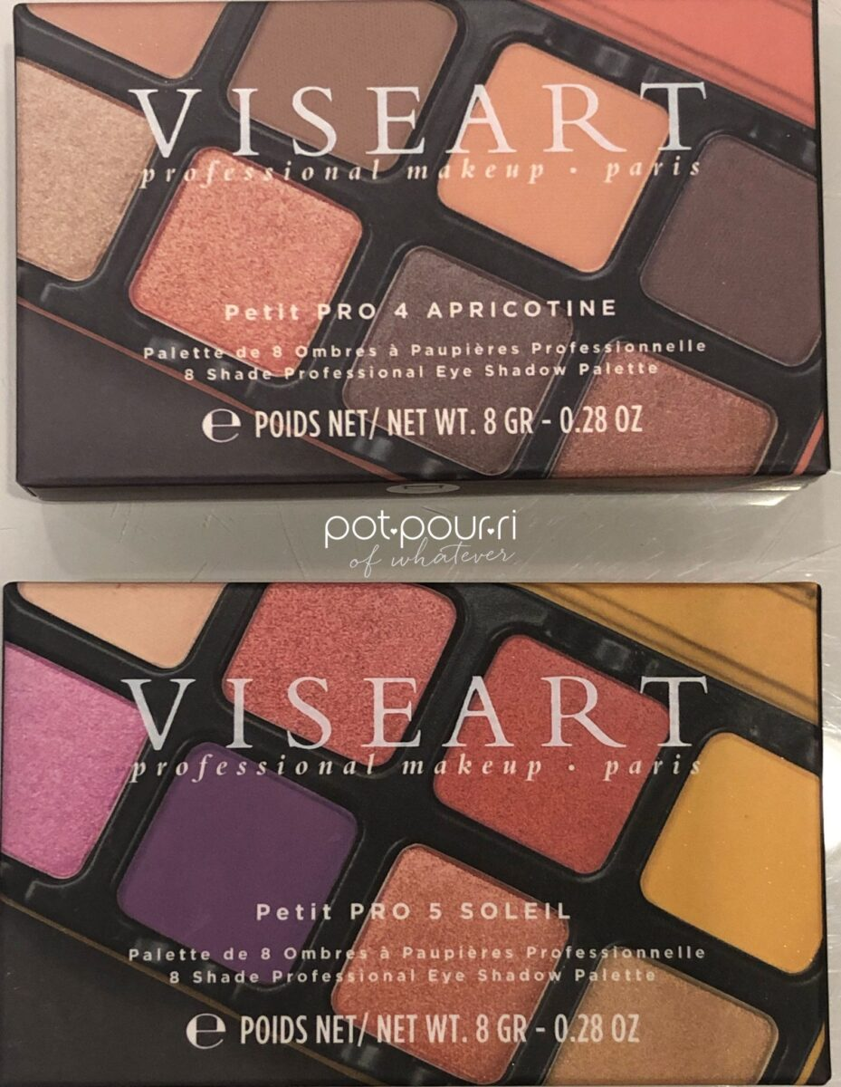 PACKAGING BOXES FOR THE VISEART PETIT PRO PALETTES APRICOTINE AND SOLEIL