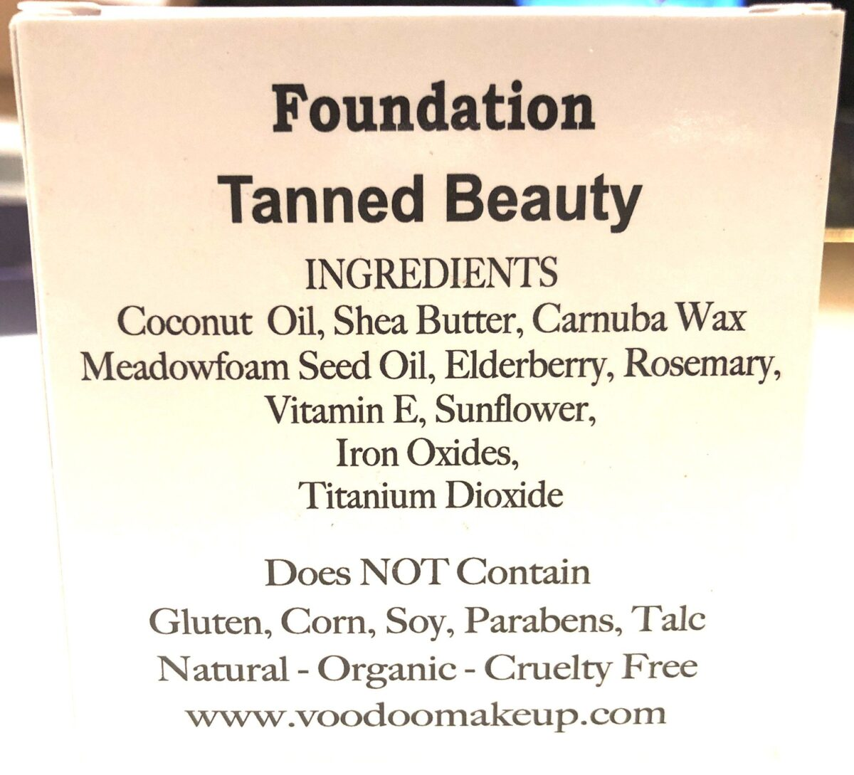 VOODOO MAKEUP COCONUT CREAM FOUNDATION POWDER INGREDIENTS