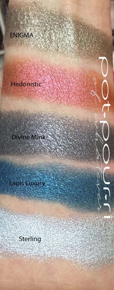 Decadence palette row two across swatches